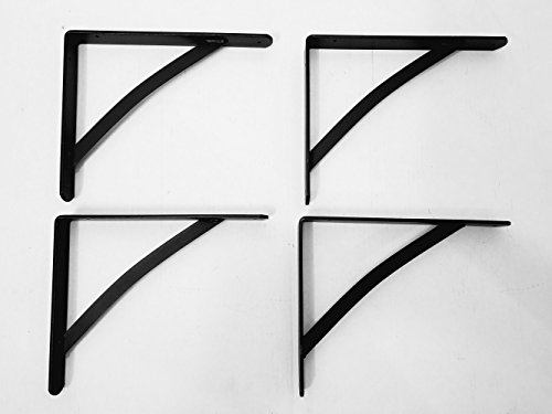 Large Bracket - Wrought Iron Large Shelf Brackets Set Of Four - Hand Made By Amish Of Lancaster County PA