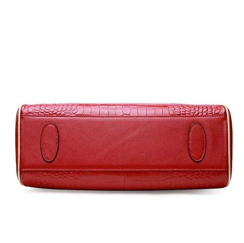 Cuero Ethba Simple De La Para Diseño Elegante One color 29cm Momia Tamaño Mujer Red Bandolera Moda Bolsos Pu 14 36 Azul Hombro Bolso Size tAr4vxqA