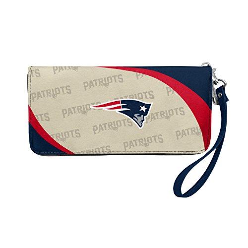 NFL New England Patriots Curve Zip Organizer Wallet