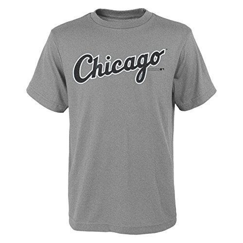 MLB  Chicago White Sox Youth Boys 8-20 Wordmark Tee-M (10-12) (Sox Tee White)