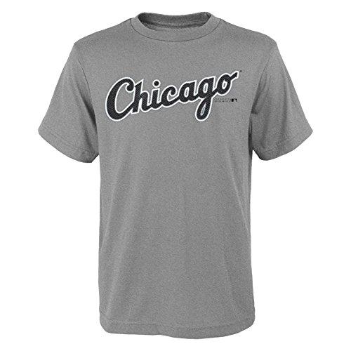 MLB  Chicago White Sox Youth Boys 8-20 Wordmark Tee-M (10-12) (White Sox Tee)