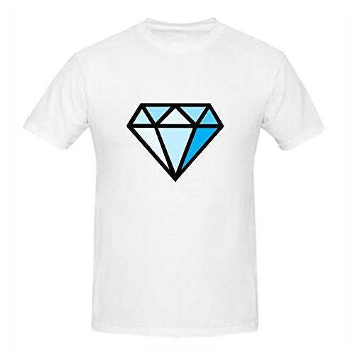 Existlong Dimond Clipart Summer T Shirts For Men Round Neck ()