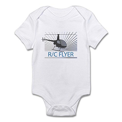 CafePress Radio Control Flyer Helicopter Infant Bodysuit - Cute Infant Bodysuit Baby Romper