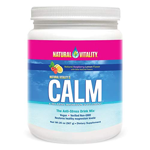 Natural Vitality Calm Anti-Stress Supplement Powder, Raspberry Lemon, 20 Ounce