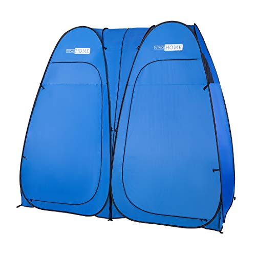 VIVOHOME Portable Easy Pop up Double Room Privacy Shelter Tent for Camping Shower and Portable Toilet