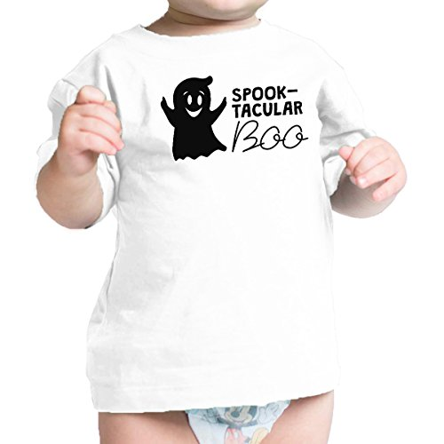 365 Printing Spook-Tacular Boo Babys Halloween Outfit Cute Baby Tee Shirt White]()