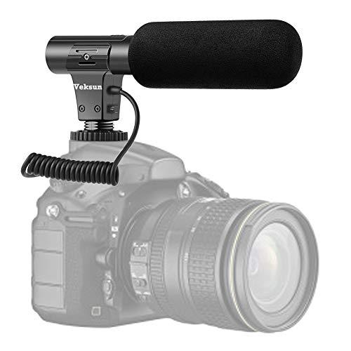 Camera Microphone,Video Microphone for DSLR Interview Shotgun Mic for Canon Nikon Sony Panasonic Fuji Videomic