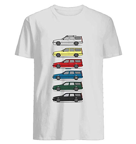 A Stack of Volvo 850 V70 T5 Swedish Turbo Wagons Tshirt Hoodie for Men Women Unisex ()