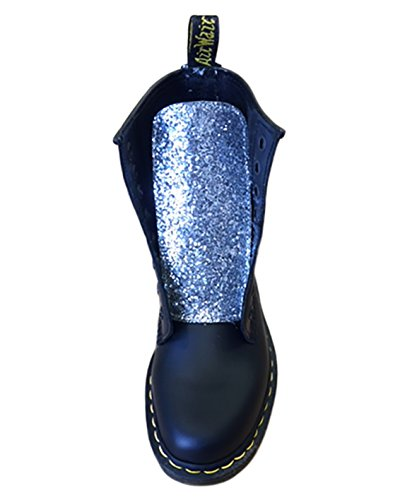 Fabric Application Glitter With Black Martens Silver Dr SOq1EPwS