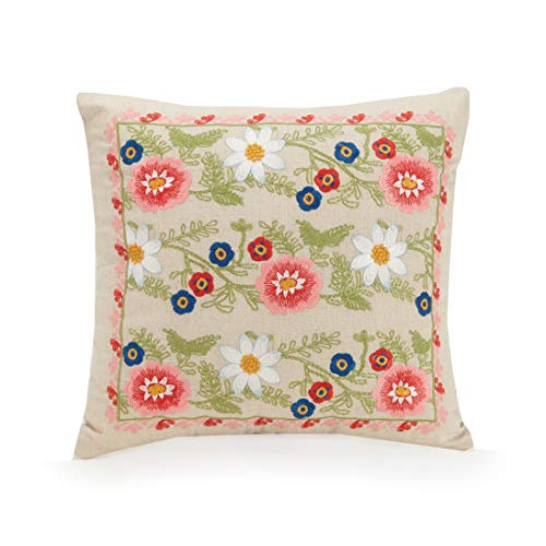 (Vera Bradley Coral Floral Decorative Pillow, 16X16'', Pink)