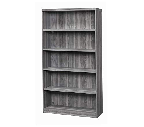 Sаfcо Prоducts Deluxe Premium Collection Bookcase 5 Shelf Gray Steel Tf Decor Comfy Living Furniture