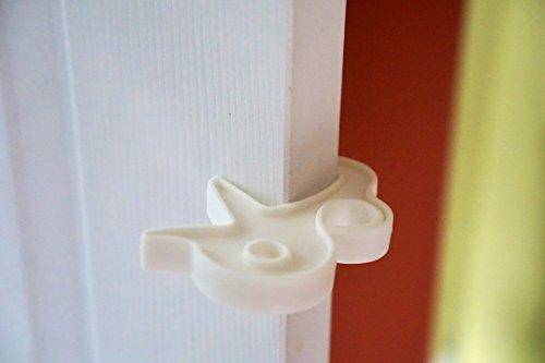 Rhoost 2-Piece Door Safety Set - Finger Pinch Preventer Baby Proofing Door Jamb and Finger Guard Safety Set, White (White)