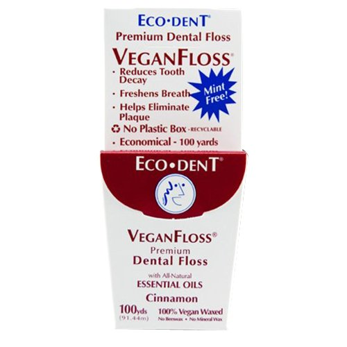 Eco-Dent Veganfloss Premium Dental Floss Cinnamon
