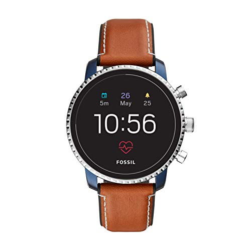 Fossil Men's Gen 4 Explorist HR Heart Rate Stainless Steel and Leather Touchscreen Smartwatch