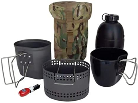 BCB CN014B Crusader Mk II Cooking System 6pc Set With Black Pouch by Bcb