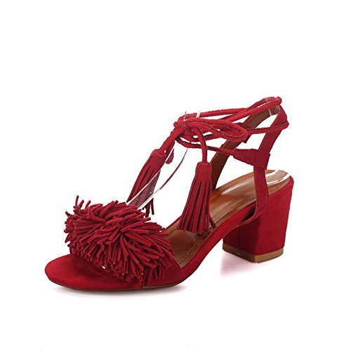 5 36 MJS03421 Red Ouvert Bout Rouge Femme 1TO9 FOnSqwa0