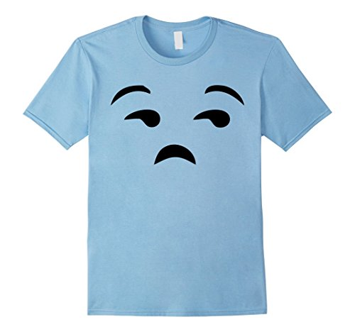 Men's Meh Emoji T-Shirt - Light Blue