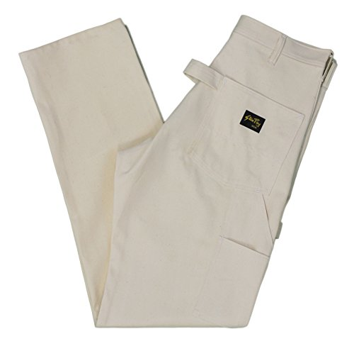 Stan Ray Men's Double Front Painters Carpenter Utility Work Pants - Made in the USA Natural - Painters Usa