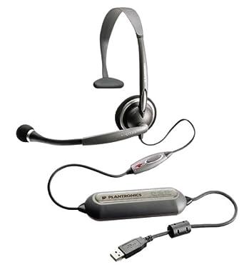 Plantronics voyager 8200 uc headphones with mic bluetooth active.