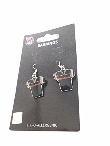 NFL Chicago Bears Jersey Dangler Earrings