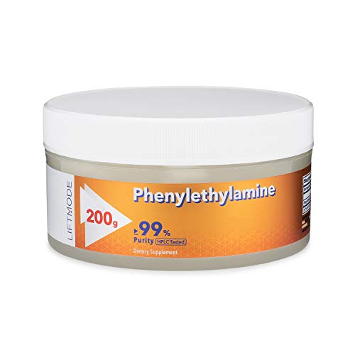 LiftMode Phenylethylamine HCL (Pea) Powder Supplement - Build Muscle, Curb Appetite, Increase Mood, Energy & Focus | Vegetarian, Vegan, Non-GMO, Gluten Free - 200 Grams (334 Servings)