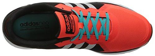 Adidas Neo Mens Cloudfoam Flyer Fashion Sneaker Nero / Argento Opaco / Infrarosso