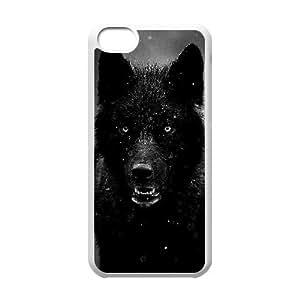 Black Wolves Popular Case for Iphone 5C, Hot Sale Black Wolves Case