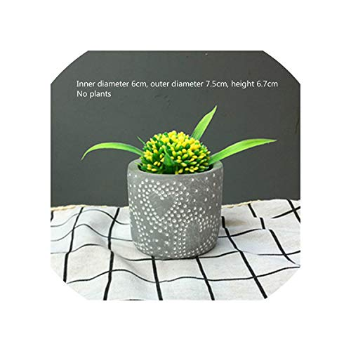 - Cement Garden Pots Minimalist Geometric White Ceramic Succulent Plant Vase Bonsai Planter Porcelain Flower Pot Home Decor,14