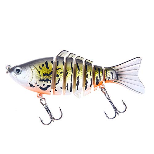 FNAPE Fishing Lures Bass Lures Topwater Lifelike Multi Jointed Swimbaits Trout Artificial Hard Baits CrankBaits Fish Tackle Kits in Freshwater and Saltwater,4Inches 0.55oz