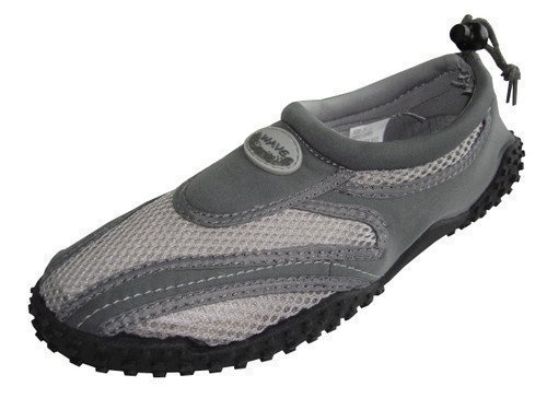 Männer Wave Wasser Schuhe Pool Beach Aqua Socken, Yoga, Übung DT1185M Grau / Grau