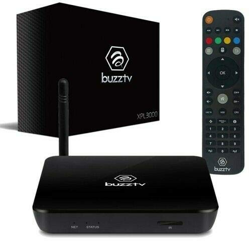 Buzz Tv XPL 3000 2018 Edition Android Nougat 2GB RAM / 8GB ROM Built-in Dual WiFi (Black) + 1 Free Month Streaming