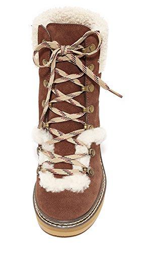 See by Chloe Womens Eileen Wedge Shearling Booties Azteco c0r6ks0s1