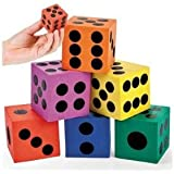 Foam Jumbo Playing Dice (1-Pack of 12)