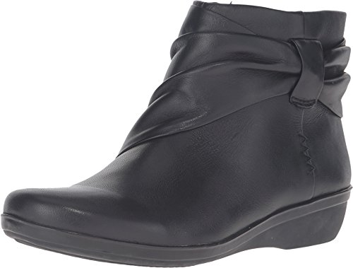 Clarks Women's Everlay Mandy Boot, Black Leather, 9 M US