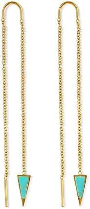 Dagger Threader Earrings for Women | 14k Gold Dangle Earrings for Women | Dagger Drop Earrings for Women | Lon
