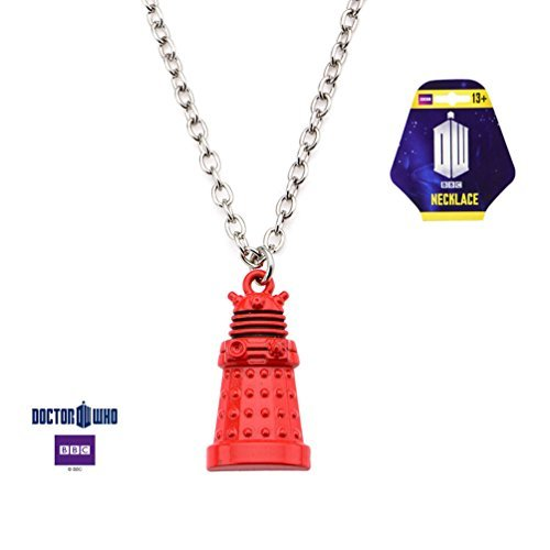 Doctor Who Red Dalek Zinc Alloy Pendant Necklace Costume Accessory