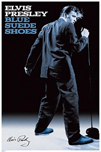 - Pyramid Elvis Blue Suede Shoes Wall Poster