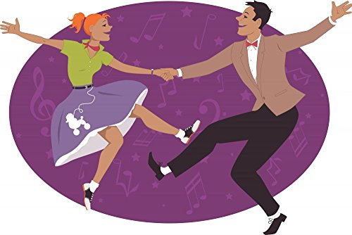 Wallmonkeys Couple Dancing 1950s Style Wall Decal Peel and Stick Graphic WM39527 413KFLCoK0L