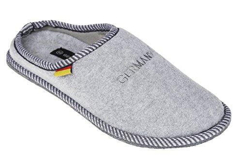 gibra - Zapatillas de estar por casa de tela para hombre Gris - gris claro (grey 801)
