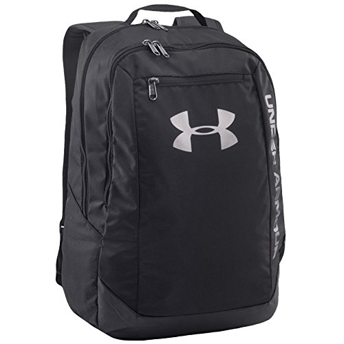 Under Armour Hustle LDWR Backpack One Size Black Black Silver ()