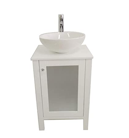 Amazoncom 20 Small Wooden Water Proofed Freestanding Bathroom