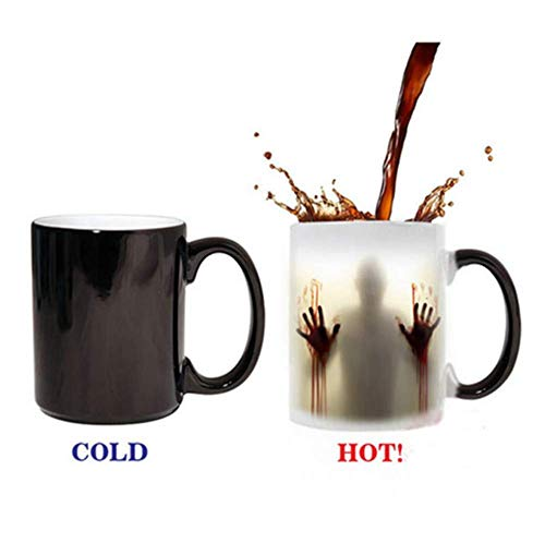 Momugs Fear The Walking Dead Coffee Mug Heat Sensitive Color Changing - See Painting Color with Hot Liquids - Reveal Magic Zombie Cups With Bloody Hands and Head Picture 12 -