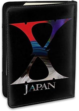 X Japan 2 パスポートケース パスポートカバー メンズ レディース パスポートバッグ ポーチ 収納カバー PUレザー 多機能収納ポケット 収納抜群 携帯便利 海外旅行 出張 クレジットカード 大容量