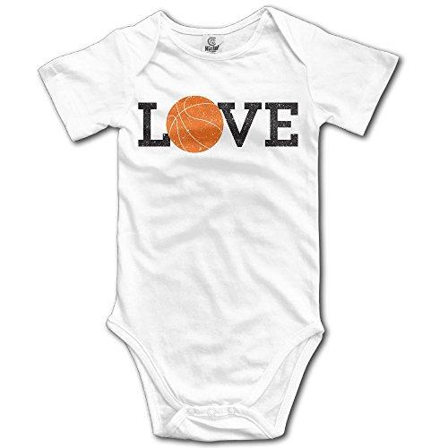 Jaylon Baby Climbing Clothes Romper Love Basketball Infant Playsuit Bodysuit Creeper Onesies White -