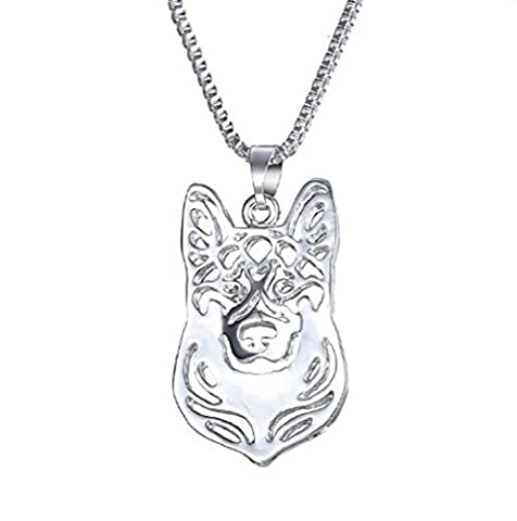 Fashion Dog Pendant Necklace Pet Dog Memorial Gift, Welsh Corgi Labrador Pitbull Husky Alaskan Akita Boxer Corgi Dachshund German Shepherd Golden Retriever (shepherd - Samoyed Jewelry
