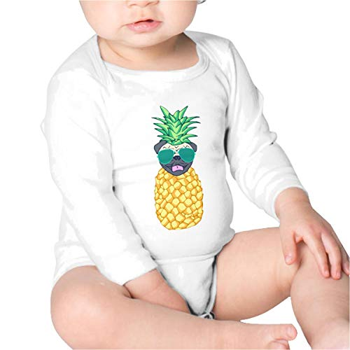 Price comparison product image Pineapple Pug Boys Cotton, Long Sleeve Creeping Suit