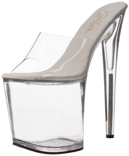 801 Flamingo Clear Pumps Women's Pleaser Transparent Platform 5Zzqf