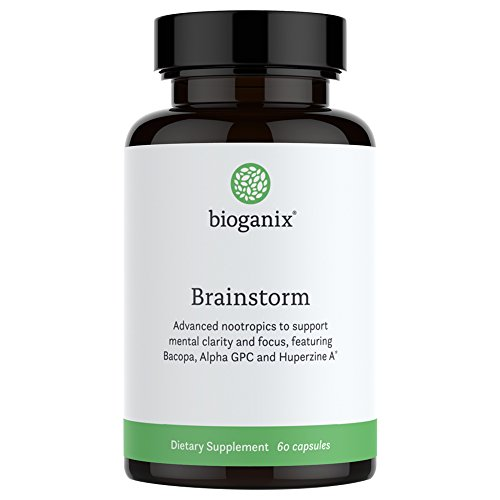 Cheap Brainstorm Brain Supplement with Bacopa, Alpha GPC, Huperzine A, 60 Capsules :: Anti Aging Nootropic Formula AIDS in Focus and Memory :: All Natural,