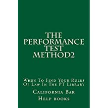 The Performance Test Method2: e law book