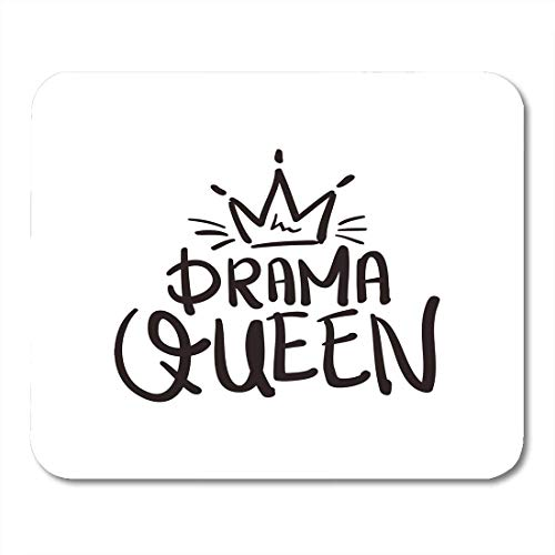 """VANKINE Mouse Pads Crown Drama Queen Graphics Slogan Tee Mouse pad 9.5"""" x 7.9"""" for Notebooks,Desktop Computers Accessories Mini Office Supplies Mouse Mats"""